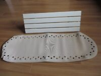 Bath Seat, White with non-slip Bath Mat.