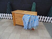 SOLID PINE BLANKET BOX (2) VERY SOLID AND IN EXCELLENT CONDITION 80/42/52 cm £25