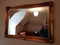 **SOLD**Large quality gilt edged ornate mirror ( 105 x 74 cm ) vgc
