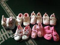 Girls/ baby pram shoes bundle