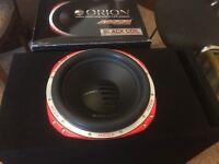 Brand new Orion speaker in custom box