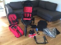 Phil & Teds Explorer Double Pushchair + Extras