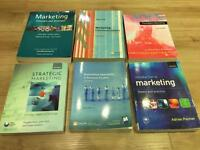 Selection of six business degree textbooks (Marketing)