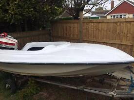 12ft Shakespeare speed boat with Johnson 85hp v4 project