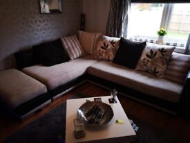 Used Large DFS Linda Baker Designer Corner sofa. Can deliver Glasgow area.