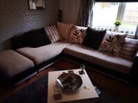 Used Large DFS Linda Baker Designer Corner sofa. Can deliver Glasgow area.