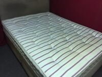 SLUMBERLAND DOUBLE DIVAN BED WITH 4 DRAWS , HEADBOARD AND MATTRESS,CAN DELIVER