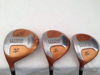 LADIES - Left HANDED Golf Clubs - WOODS - 1,3 & 5 WOODS