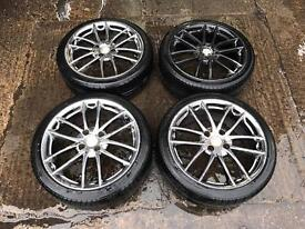 "17"" bs Racing 4x108 Alloy Wheels"