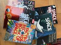 Collection of old space fact books