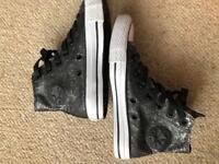 Black Glitter Converse size 4