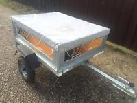 Erde 122 classic tipping trailer + cover