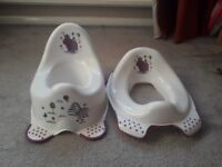Potty unused and toilet seat used a few times