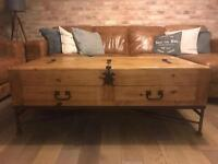 Very Good Condition Wooden Trunk Coffee Table