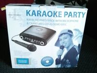 Easy Karaoke EKG-88S Karaoke Machine - Black with Karaoke Party Pack 2 disc