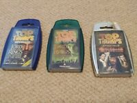 Top Trumps Lord of the Rings and Pirates of the Caribbean, very good condition