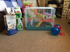 Hammster cage and everything you need with it