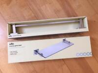 Glass Shelf & Towel Rail