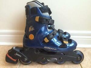Like NEW Bauer V6 Inline Skates (Rollerblades) 72mm/78A Women's 6/Men's 4.5