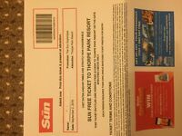 Thorpe Park Tickets for 2nd Sept