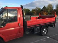 Ford transit pick up with tail lift