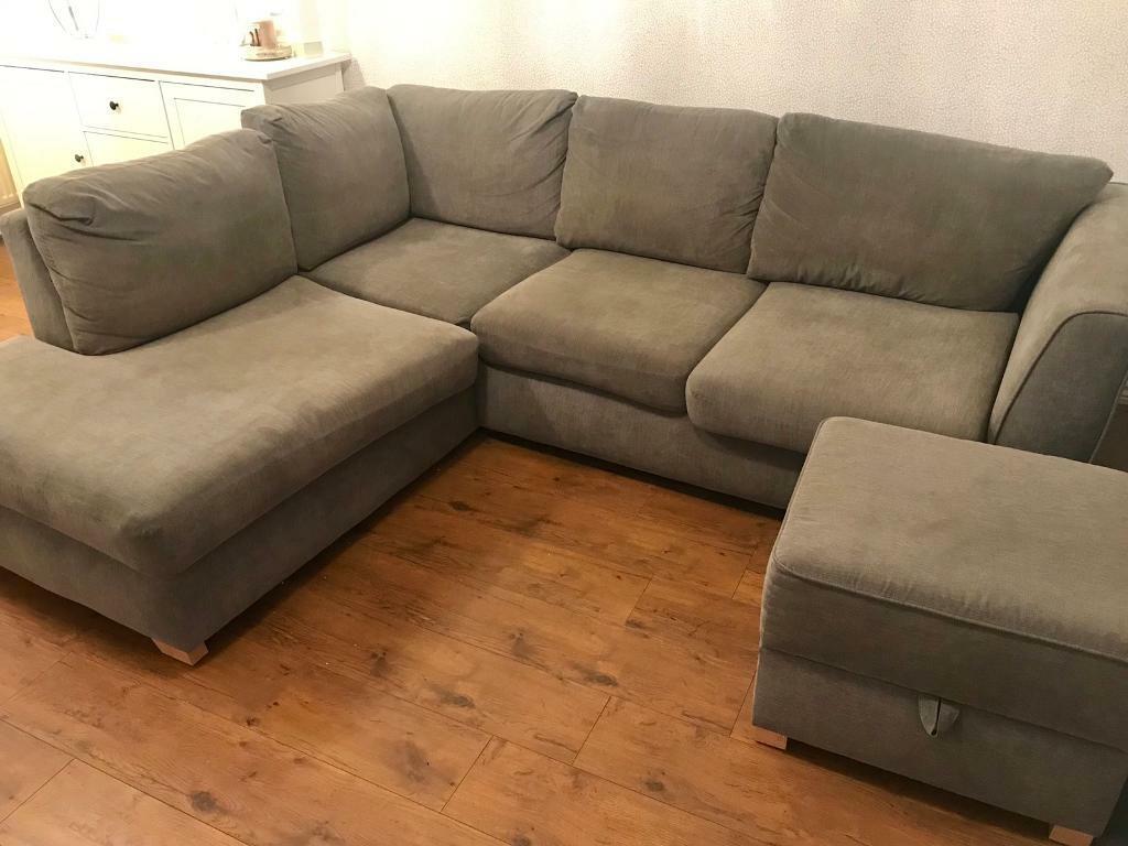 Grey Green Corner Sofa In Nottingham Nottinghamshire