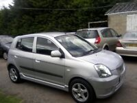 KIA PICANTO 1-1 GLAMOUR 5-DOOR 2005. ONLY 65,000 MILES WITH SERVICE HISTORY. 2 PREVIOUS OWNERS.