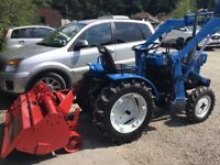 Iseki TX1500 4WD Compact Tractor with Loader, Rotavator & Transport Box