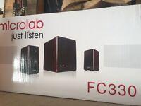 MICROLAB SPEAKER PC LAPTOP FC330 ENHANCED BASS 2+1 SUBWOOFER 2.1