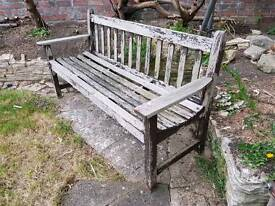 Bench, sturdy, needs TLC, free to good home