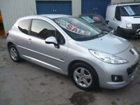 Peugeot 207 Sportium LTD Edition,3 door hatchback,full MOT,sports interior,touchscreen Sat Nav,56k