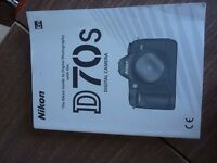 Nikon D70S for spares / repairs