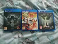 Ps4 games to SWAP for xbox one games