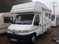 2002 Elddis Autoquest 200 4 Berth Motorhome on Peugeot Boxer Body