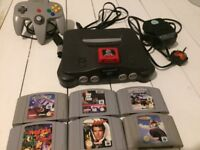 Nintendo 64 and 6 games