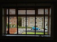 Real wood taped blinds 180cms wide x2 bought NEXT