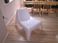 White Ikea Plastic Chair