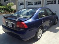 Honda Civic 2002 bleu