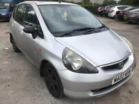 Honda Jazz 2002 part x to clear runs and drives mot and docs