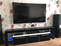 EX DISPLAY Modern TV Unit Cabinet 200cm - various colours in high gloss with LED system.