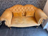 Orange sofa compact