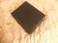 Filofax A5 Black 'Nappa' Leather with Zip