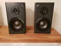 Pair of Alesis Monitor One Mk2 Studio Monitor Speakers with Gemini X3 Amplifier