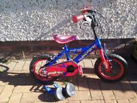 """Huffy Patriot 12"""" Bike with Stabilisers"""
