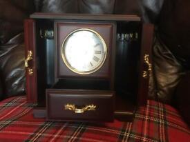 Musical Jewellery box with clock