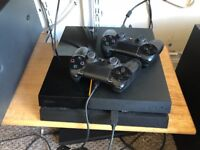 Playstation 4 (PS4) 2TB with 2 controllers and 2 games, Gran Turismo Sport & Wolfenstein 2