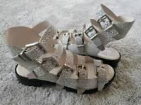 New Animal print gladiator sandals