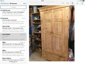 Pine wardrobe great style shape and in very good condition