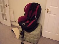 Maxi- Cosi Priorifix 9-18KG isofix system car seat perfect condition beautiful pattern