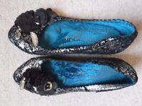 Irregular Choice black kitten heels